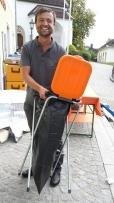 Müllentsorgung in orange